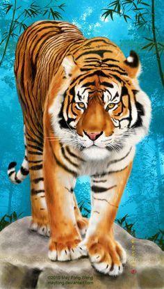 Sumatran Tiger by MayFong.deviantart.com on @deviantART
