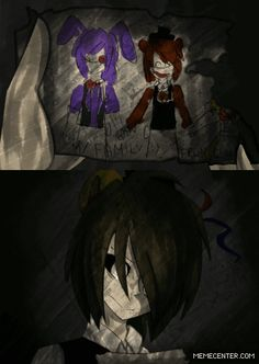 """""""Bonnie, why did you have to go?"""" (in FNaF 3 there is no Phantom! Bonnie so Freddy misses his friend so much) My feels ;_; GIFS by xnek0 on Tumblr, put together by me"""