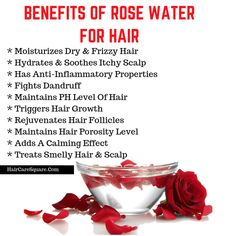 8 Ways To Use Rose Water For Beautiful Hair That You've Always Desired! Rose Water Benefits for Hair Pelo Natural, Natural Hair Care, Natural Hair Styles, Natural Beauty, Rose Water Hair, Rose Water For Skin, Homemade Rose Water, Uses For Rose Water, Dry Frizzy Hair