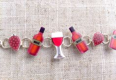 Rose wine cocktail bracelet by Ohyouprettythings77 on Etsy, £8.00