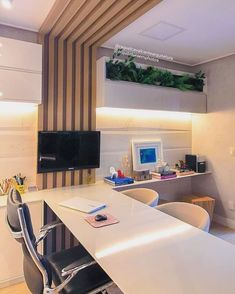 Leading 30 Stunning Home Office Design Office Cabin Design, Modern Office Design, Office Furniture Design, Office Interior Design, Office Interiors, Office Designs, Office Table, Home Office Decor, Architecture Office
