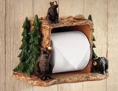 Black Bear Northwoods Bathroom TP Holder - Don't know what I'd do with it, it's cute