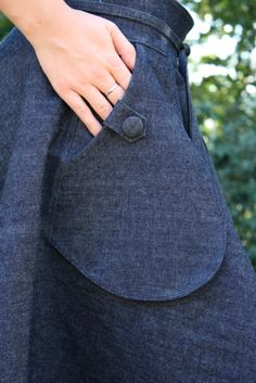 Skirt Tutorial - skirts with pockets are awesome!
