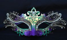 Metal Purple Gold Masquerade Mask with by MasquerademaskStudio, $34.95