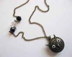 Ceas bronz cap de bufnita cu cristale - idei cadouri femei Washer Necklace, Pendant Necklace, Cape, Jewelry, Mantle, Cabo, Jewlery, Jewerly, Schmuck