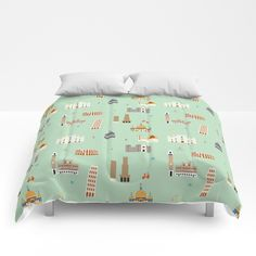 Buy Italy pattern Comforters by giusivaccanio. Worldwide shipping available at Society6.com. Just one of millions of high quality products available.