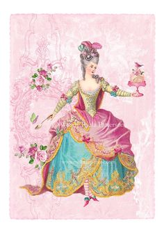 Marie Antoinette Gateau Rose Giclee