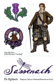 "Be Among the 1st to Enjoy Outlander Temporary Tattoos with these three Highlander designs! Pre-Order Now! Tattoos ship Tuesday, June 14, 2016. Our Outlander Temporary Tattoo sheets are 4""x6"" (10x15 cm"