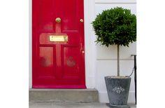 Stencil Ease Brighton Damask Door and Planter