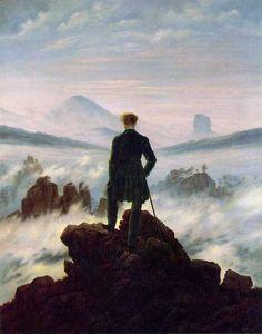 Caspar David Friedrich - il viandante sul mare di nebbia.