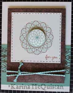 Candid Crafter: Jackson Card featuring the Dizzy Circles stamp set #CTMH #cards