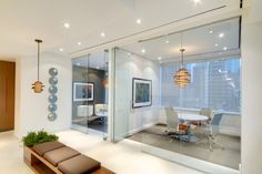 glassed conference rooms