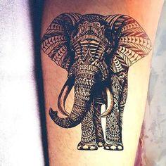 Beautiful Indian Elephant Tattoo Idea