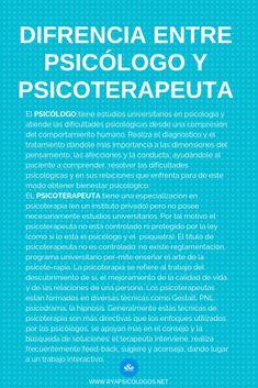 Diferencia entre psicólogo y psicoterapeuta:   #psicólogo #psicoterapeuta #terapeuta Freud Psychology, Psychology Books, Psychology Facts, Inspirational Phrases, Spanish Language Learning, Power Of Positivity, Psychiatry, Neuroscience, Mental Health Awareness