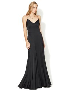 Seamed V-Neck Silk Gown by Zac Posen at Gilt