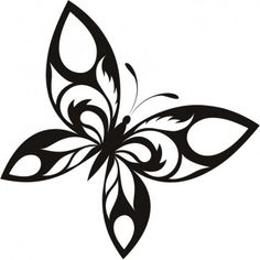 Full Butterfly Patterned Tribal Wall Stickers Wall Art Decal