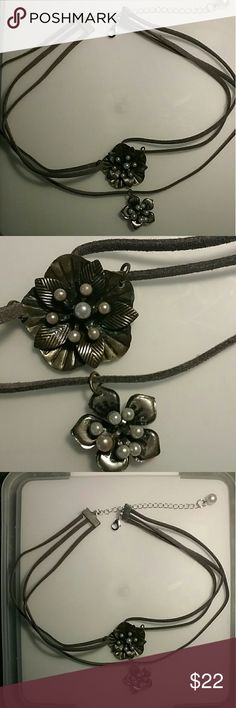 """Really Pretty 3 strand choker One of a kind.  13"""" inches plus an additional length from the extender.  Lobster claw clasp Poetry in Motion Jewelry Necklaces"""
