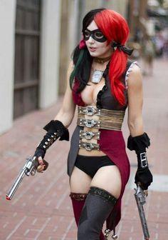 Cute halloween costume! Harley Quinn!