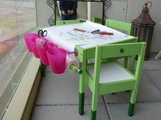 small artist ikea hack table
