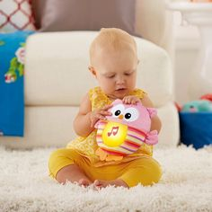 Fisher-Price Soothe & Glow Owl Pink available online at http://www.babycity.co.uk/