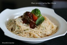 Thai Green Curry Bee Hoon (Dry Version)