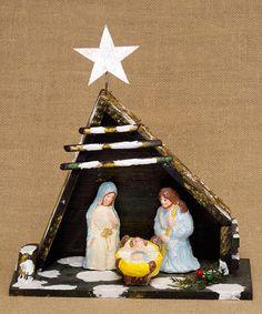 This Vintage-Inspired Nativity Figurine is perfect! #zulilyfinds