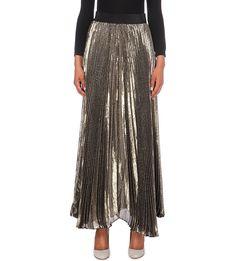 ALICE & OLIVIA Katz pleated silk-blend maxi skirt