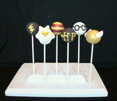 6 Harry Potter Cake Pops with Golden Snitch and by SweetWhimsyShop