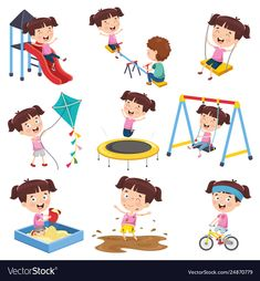 Vector Illustration Of Cartoon Girl Doing Various Activities Art Drawings For Kids, Drawing For Kids, Cartoon Pics, Girl Cartoon, Toddler Clock, Sequencing Pictures, Age Appropriate Chores, Baby Painting, Old Building