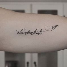 What does wanderlust tattoo mean? We have wanderlust tattoo ideas, designs, symbolism and we explain the meaning behind the tattoo. Red Tattoos, Feather Tattoos, Foot Tattoos, Small Tattoos, Cross Tattoos, Flower Tattoos, Tattos, Tattoo Son, Hand Tattoo