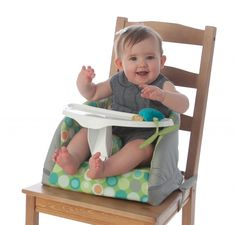 Part highchair, part booster seat, part floor seat, the Boppy® Baby Chair does it all. Designed to go from floor to table seat, the Boppy Baby Chair includes a three-point harness and folds down easily for storage and portability.