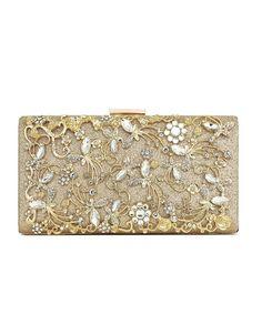 a4b36888ef Large Womens Noble Evening Clutch Bag Wedding Purse Bridal Prom Handbag Party  Bag - Gold - CW18399YZ0E