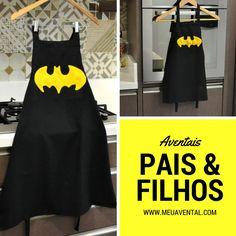 Avental Batman Pai e filho disponível para venda no site Meu Avental. Entrega em todo Brasil :)