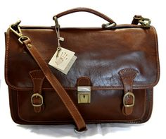 Briefcase leather office bag backpack shoulder by ItalianHandbags