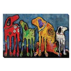 Jenny Foster 'Best Friends' Canvas Art - 15230158 - Overstock.com Shopping - The Best Prices on Gallery Wrapped Canvas
