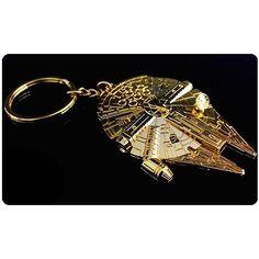 Star Wars Gold Millennium Falcon Replica Key Chain