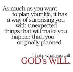 That's Gods plan!!