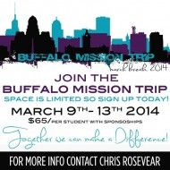 Buffalo – Youth Missions Trip