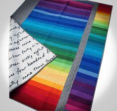 Rainbow strip and flip quilt | Jeli Quilts