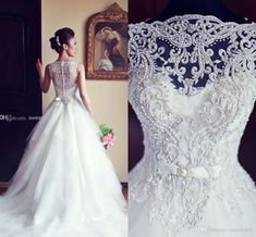 Newest Elegant Sleeveless Crystal Wedding Dresses 2017 Fashion White A Line Princess Tulle Bridal Gowns Long High Quality Stunning Top Crystal Wedding Dresses, Elegant Wedding Gowns, 2015 Wedding Dresses, Backless Wedding, Wedding Dress Shopping, Cheap Wedding Dress, Bridal Dresses, Gown Wedding, Lace Wedding