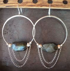 Labradorite and sterling silver women's by ARTdesignsbyannart, $42.00