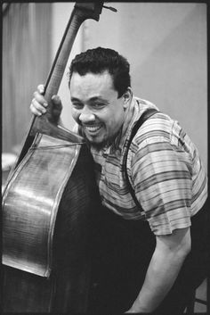 Charles Mingus In Columbia's 30th Street studio, Ah Um recording. NYC, 1959. © Don Hunstein.