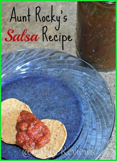 Aunt Rocky's Salsa Recipe ~great healthy dip for using up your garden tomatoes and peppers.: Aunt Rocky's Salsa Recipe ~great healthy dip for using up your garden tomatoes and peppers.