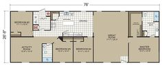 Floor Plans: Gold Star 2880 201 - Manufactured and Modular Homes
