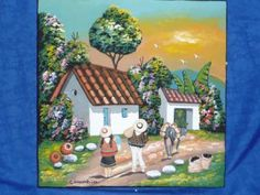 cuadro artesanal cuadro madera,ceramica,pintura vinilo alto relieve,decoracion en pintura