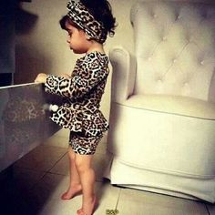 Baby Girls Dresses Gaueey Leopard Print Girls Luxury Dresses Fashion Kids Dresses For Girls Clothes Children Long-sleeved D Fashion Kids, Little Girl Fashion, My Little Girl, Toddler Fashion, Party Fashion, Cool Baby Names, Baby Girl Names, Cool Baby Stuff, My Baby Girl