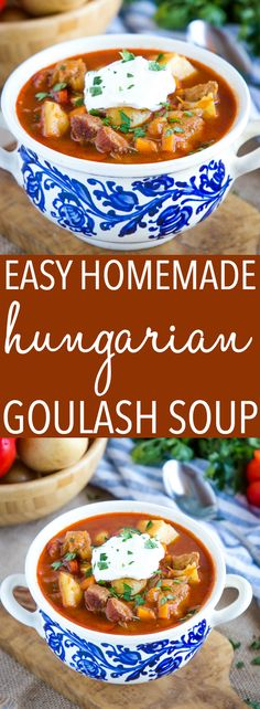 Could You Eat Pizza With Sort Two Diabetic Issues? This Homemade Hungarian Goulash Soup Recipe Is The Perfect Classic Cold-Weather Soup That's Hearty, Full Of Flavor, And So Easy To Makerecipe From Thebusybaker. Goulash Soup Recipes, Best Soup Recipes, Healthy Soup Recipes, Beef Recipes, Cooking Recipes, Beef Goulash Soup, Dinner Recipes, Cheese Recipes, Potato Recipes