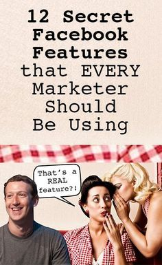 12 Secret Facebook Features that EVERY Marketer Should Be Using  #RePin by AT Social Media Marketing - Pinterest Marketing Specialists http://ATSocialMedia.co.uk
