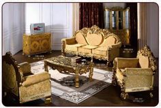 French living room furniture Luxury Sofa, Luxury Bedding, French Living Rooms, Rococo Style, French Furniture, Sofa Set, Decoration, Living Room Furniture, New Homes