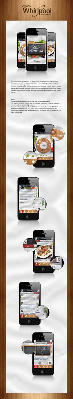 Chef Microwave - Whirlpool App by Santi Urso, via Behance *** Proposal design for the Whirlpool Cookbook App